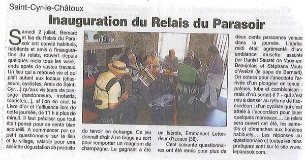 Le patriote beaujolais - juillet 2011