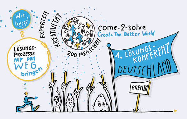 Sketch Notes, Lösungskonferenz, come-2-solve, Kreativität