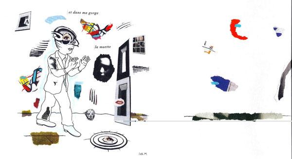 SEB. M : Premier dessin pour L'Enfui tourne court de René Daumal. Une des versions définitives.