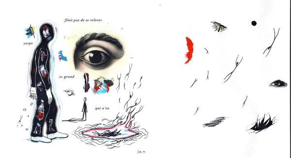 SEB. M : Second dessin pour L'Enfui tourne court de René Daumal. Une des versions définitives