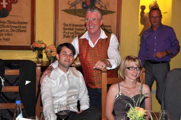 Peter Reicher als Entertainer bei einer Hochzeit im Juli 2012