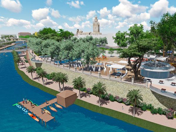 Ballesta propone convertir el entorno del río Segura en un gran pulmón verde para la ciudad