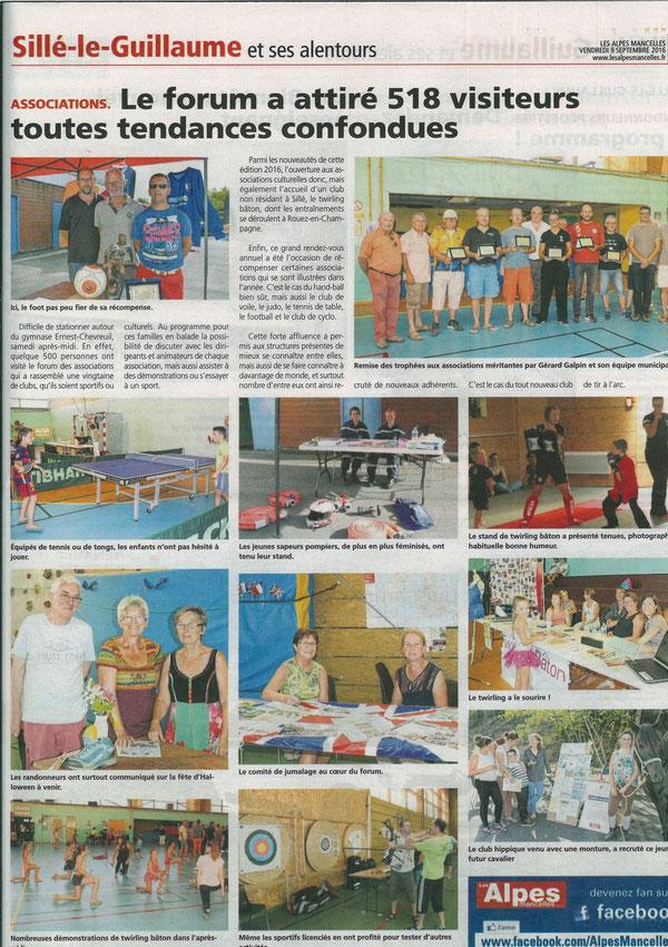 Le forum a attiré 518 visiteurs - Alpes Mancelles 09/09/2016 - Judo Club Silléen