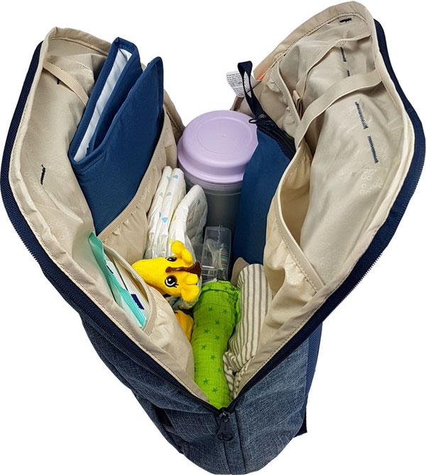 Okiedog Trek Wickelrucksack gefüllt, Baby Tasche Rucksack gefüllt