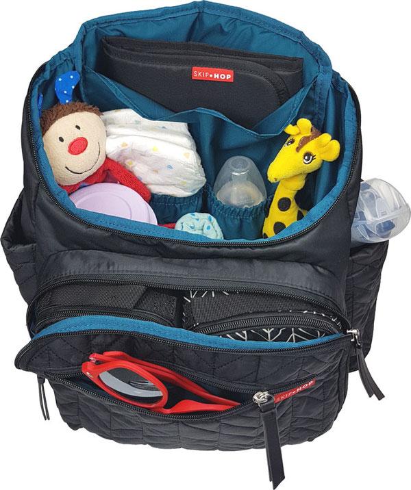 Babymel Robyn gefüllt, Wickelrucksack gefüllt, Baby Tasche Rucksack gefüllt