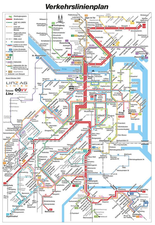 Verkehrslinienplan