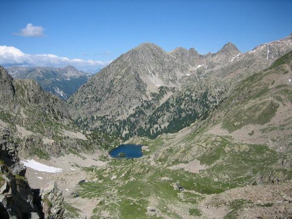 Lac de Trécolpas depuis le Pas des Ladres