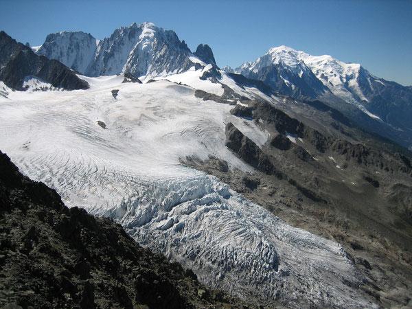 Mont-Blanc et Aiguille Verte