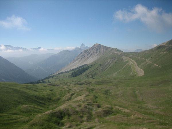 Côté Montgenèvre depuis le Col de la Lauze