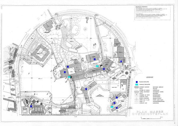 Plan du campus de la Plaine ULB en 1994, source 2