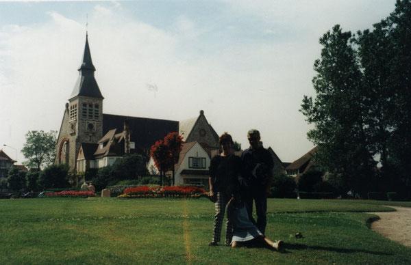 Le Touquet, jardin de l'église