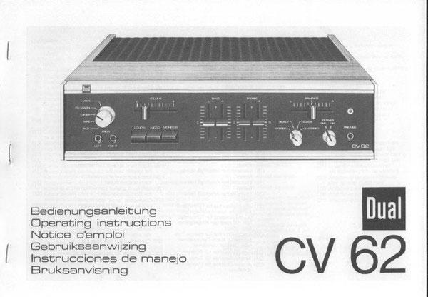 Bedienungsanleitung CV 62