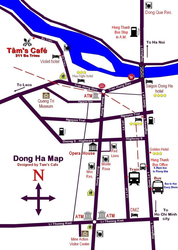 How to get to Tam's Cafe