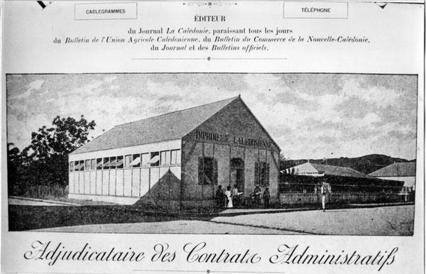 D34 - L'Imprimerie Calédonienne ; photographie extraite de La Calédonie Illustrée (1899)