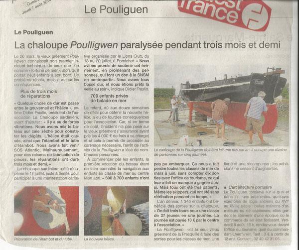 Ouest France du 7 Août 2014