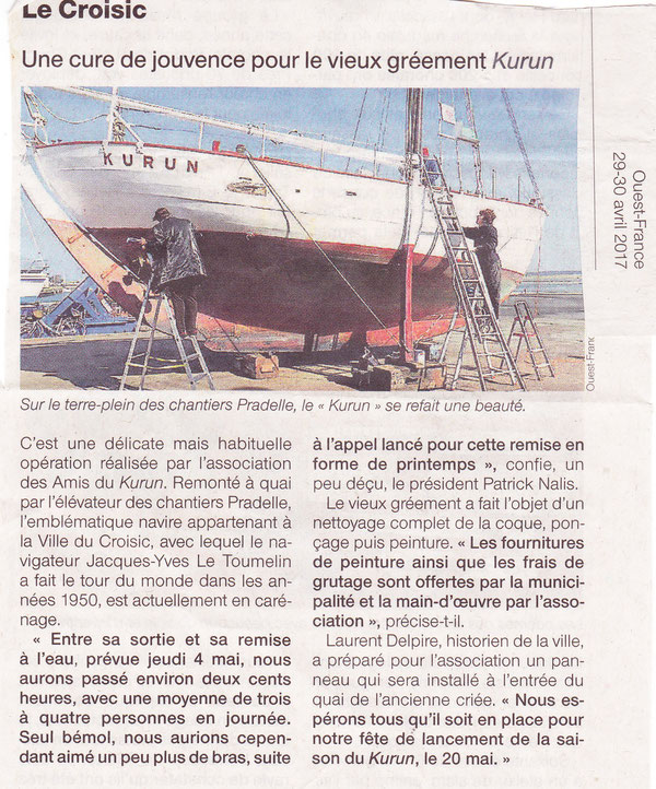 Ouest France 29 Avril 2017