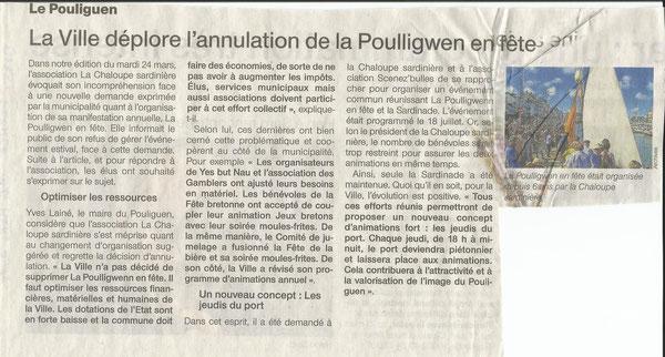 Ouest France du 25 Mars 2015