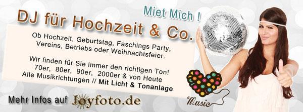 DJ für Hochzeit, Geburtstag, Faschings party