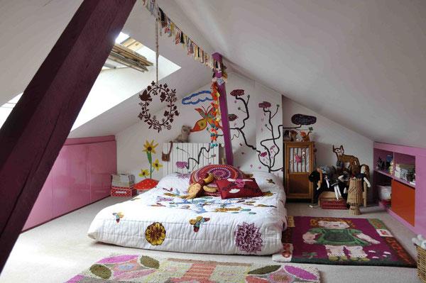 パリの子ども部屋、インテリア、子供