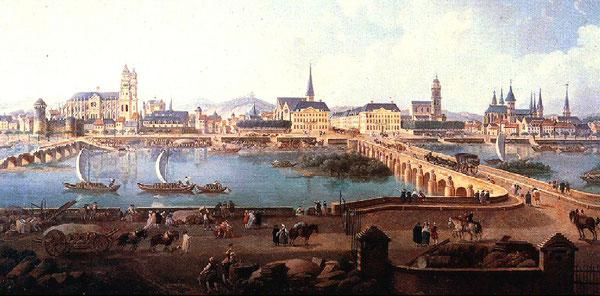 Huile sur Toile par P. A. Demachy, 1787. Musée des Beaux Arts de Tours