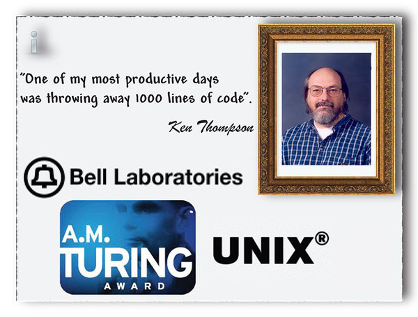 Use Shaw's programming bubbles to learn about Ken Thompson, while working at Bell Labs, helped develop UNIX