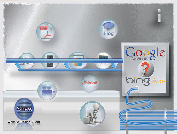 Use Shaw Bubbles to learn about Adwords and Bing ads