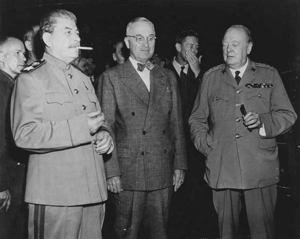Stalin, Truman en Churchill