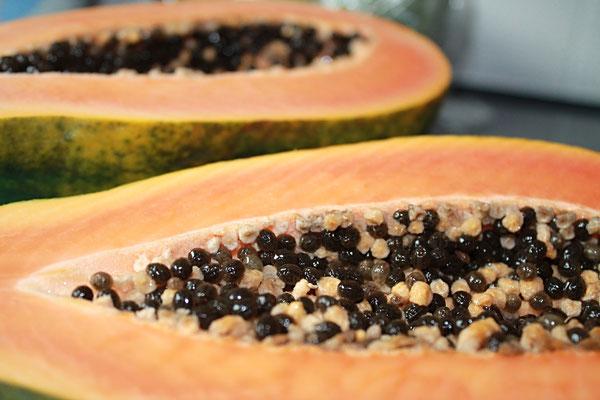 halbierte Frucht