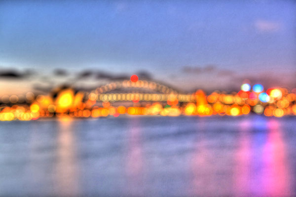 Out of Focus by Gerold Guggenbuehl, Harbour Bridge Sydney, Australia