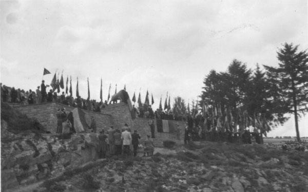 Enthüllung Monument der Ardennenjäger....