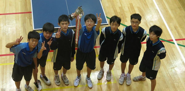 男子優勝の鎌ケ谷中学校