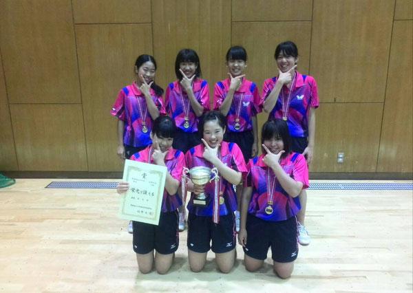 女子団体優勝、鎌ケ谷第三中学