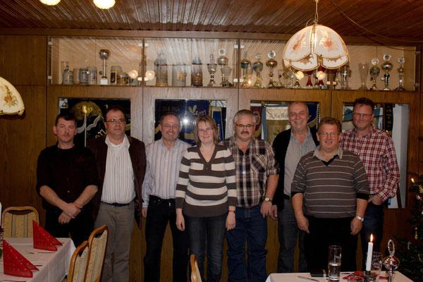 von links nach rechts. Max Kufner, Franz Renz, Martin Erhard, Michaela Altmann, Ludwig Altmann, Erich Magnus, Michael Raith, Josef List