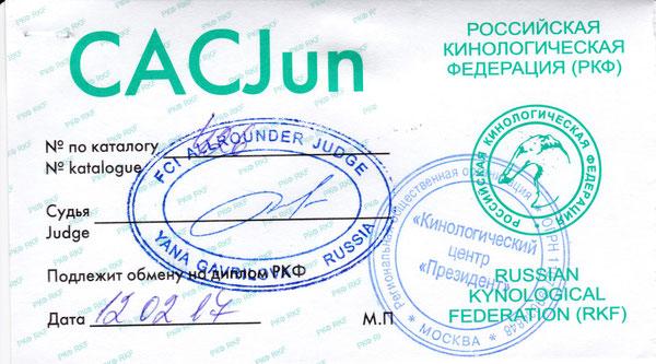 Призидент эксперт Гаврилова Янна Лучшей юниор ЛПП,JCAC