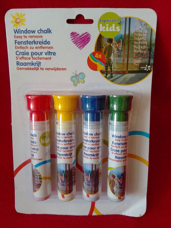 Fensterkreide in vier Farben, tolles Kinderspielzeug da leicht zu entfernen (5,-- € + Porto)