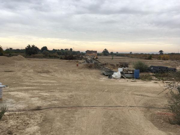 Blick vom oberen Teil des Grundstücks aus