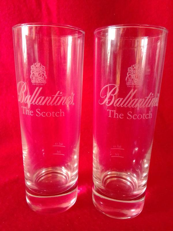6 Ballantines Whisky Longdrinkgläser