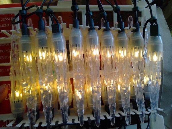 Lichterkette Eiszapfen