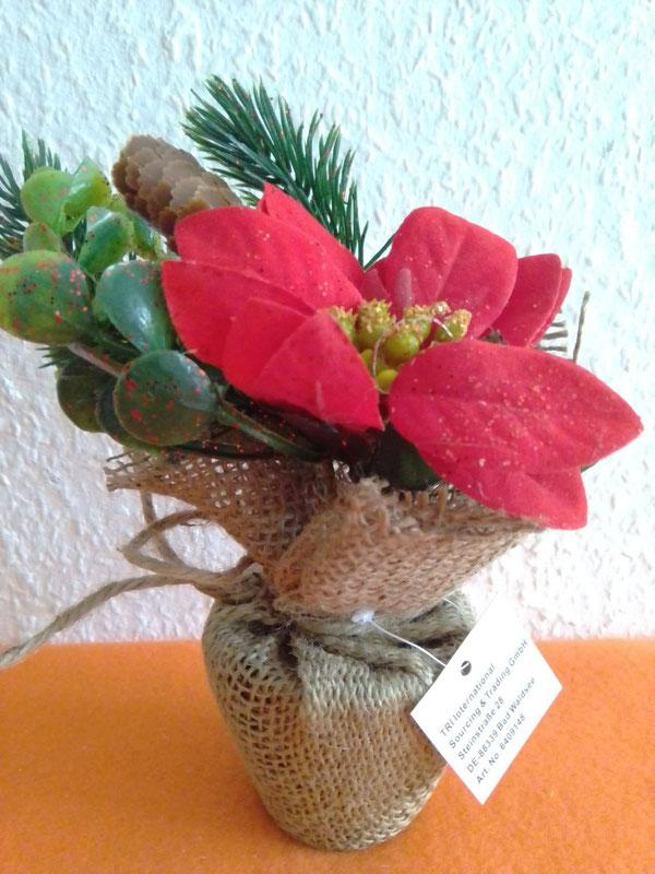 Blumendekoration Weihnachtsstern