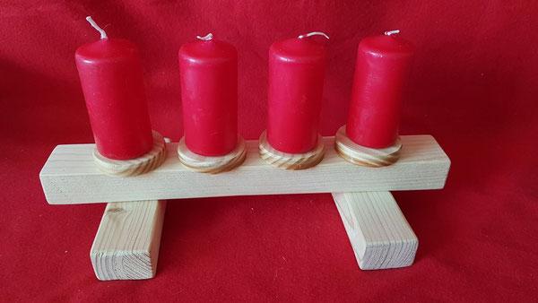 Advents-Kerzenhalter aus Holz
