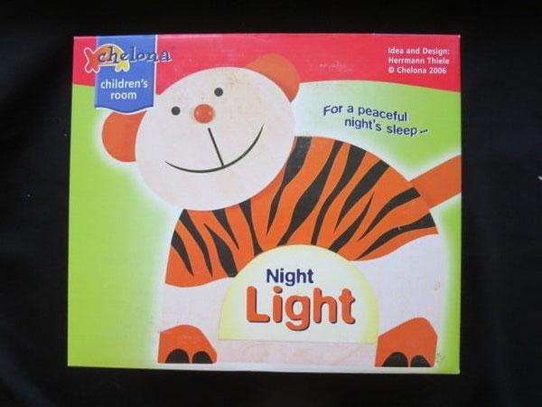 Nachtlicht für Kinder in Form eines Tigers
