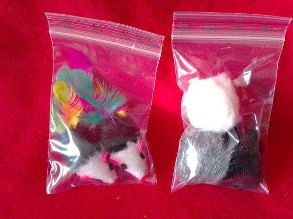 Katzenspielzeug - Mäuse oder Fellbälle