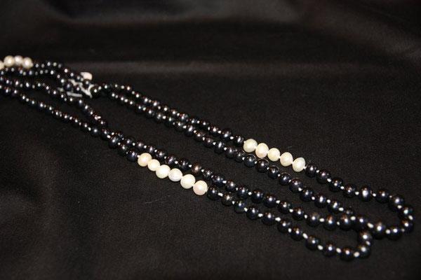 lange Süßwasser-Perlenkette