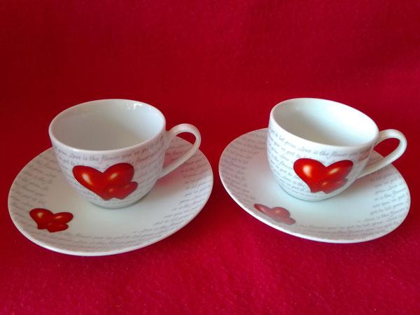 2 Porzellan Espressotassen von Ritzenhoff & Breker