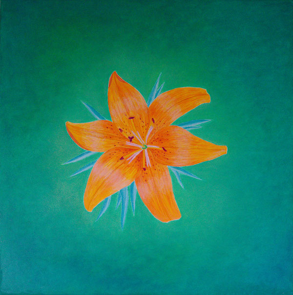 Lilie/Lily, Oel auf Leinwand/Oil on canvas, 50x50cm, 2017.