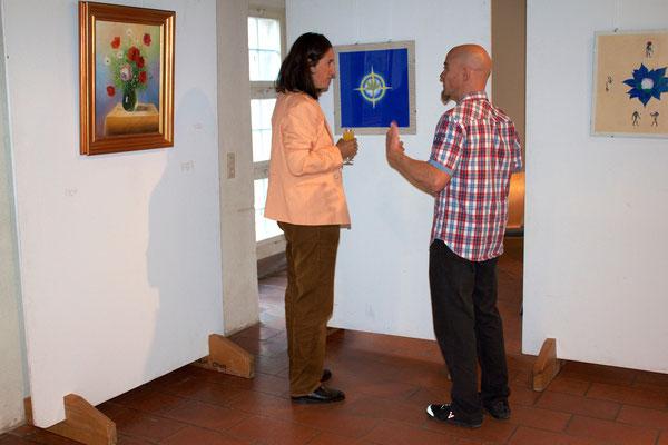 Künstlerin mit Gast/Artist with guest, 10.09.2015.
