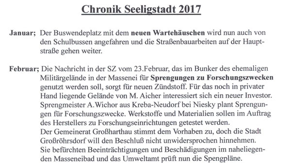 Bild: Techler Seeligstadt Chronik 2017