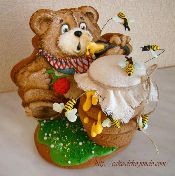 """Пряник медовый """"Мишка и бочонок мёда"""""""