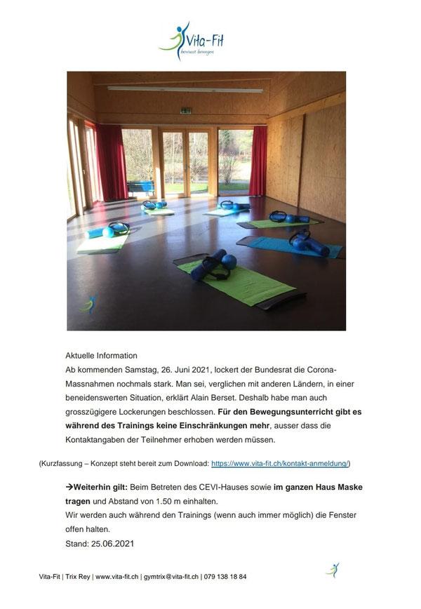 Pilates# Präsenzunterricht - Lockerungen ab 31.05.2021