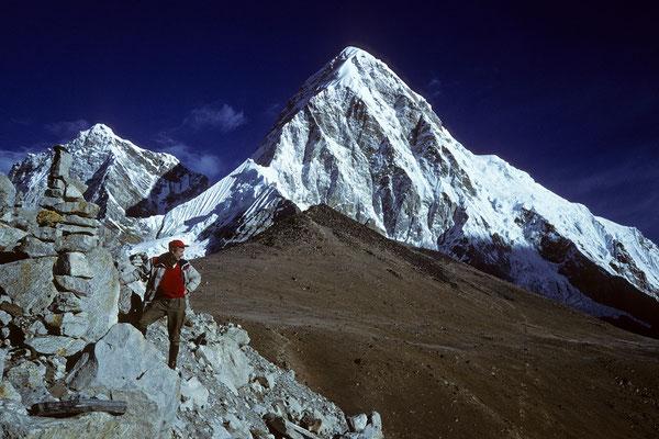 Kala Patthar 5545 m vor Pumori 7145 m